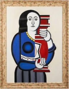 Femme avec un vase d'après Fernand leger