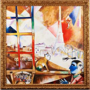Paris depuis la fenêtre D'après Marc Chagal
