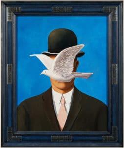 'homme au chapeau melon D'après René Magritte