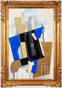 Composition cubiste à la guitare D'après Pablo Picasso
