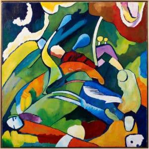 Composition avec 3 cavaliers et une sirène D'après Wasily Kandinsky