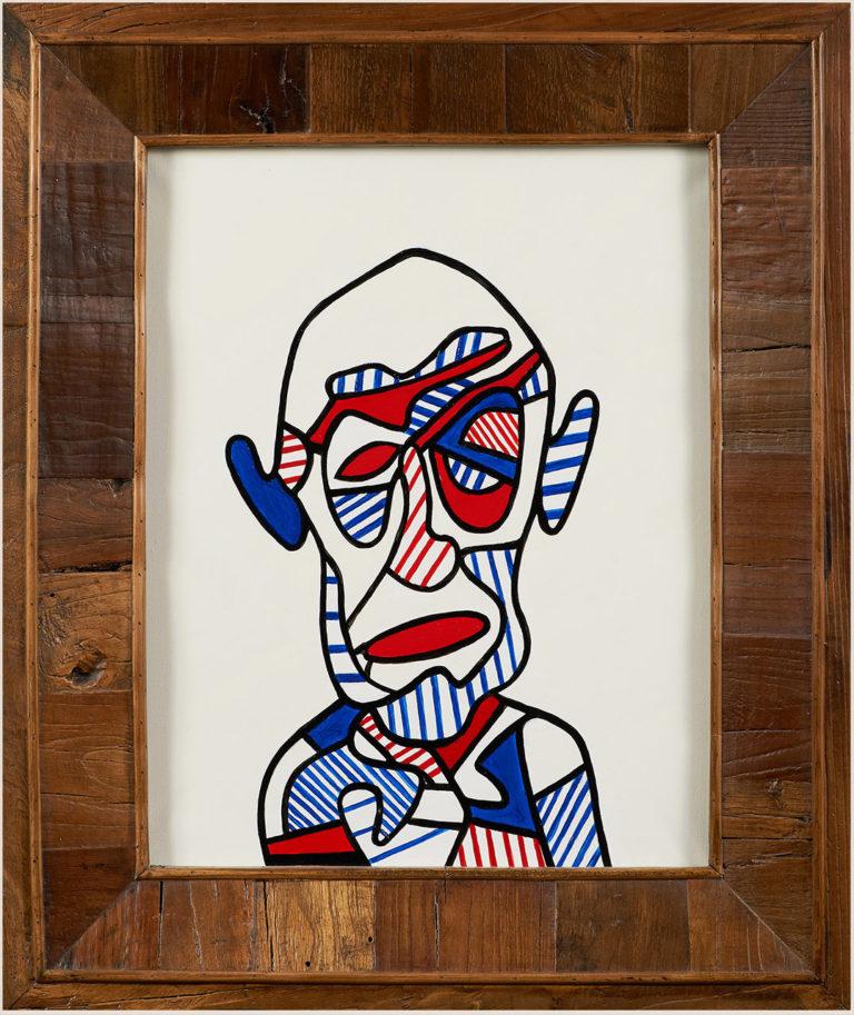 Autoportrait D'après Jean Dubuffet