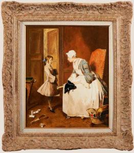 La gouvernante et la mère attentive D'après Jean Baptiste Siméon Chardin